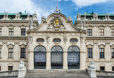 贝尔维德雷宫,在维也纳, 免版税图库摄影