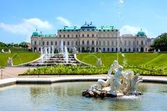 贝尔维德雷宫,维也纳 免版税图库摄影