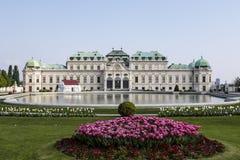 贝尔维德雷宫& x28的门面; 上部Belvedere& x29;在维也纳,奥地利 库存图片