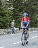 彻尔du Tourmalet -环法自行车赛的塞巴斯蒂安Langeveld 2014年 免版税库存照片
