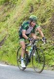 彻尔du Tourmalet -环法自行车赛的托马斯Voeckler 2015年 库存图片