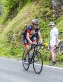 彻尔du Tourmalet -环法自行车赛的Sebastien Reichenbach 2014年 免版税库存图片