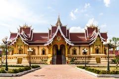 贺尔Thamma Shapa寺庙,在Wat附近那Luang Stupa 库存照片