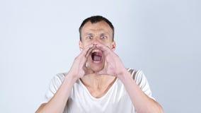 尖叫恼怒的人呼喊和 免版税库存图片