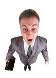 尖叫的商人 免版税库存图片