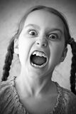 尖叫的女孩 图库摄影
