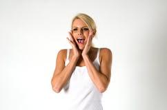 尖叫的妇女 免版税库存图片