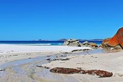 尖叫的海滩Wilsons海角维多利亚澳大利亚 免版税库存图片
