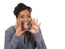 尖叫的黑人妇女 图库摄影