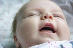尖叫的婴孩 免版税库存照片
