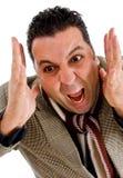 尖叫美国愤怒的男 免版税库存图片