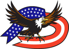 尖叫美国白头鹰的标志美国 库存图片