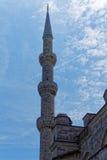 尖塔在伊斯坦布尔 免版税库存图片