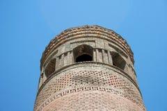 尖塔在Uzgen,吉尔吉斯斯坦 免版税图库摄影