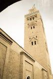 尖塔 Koutoubia清真寺 马拉喀什 摩洛哥 库存图片