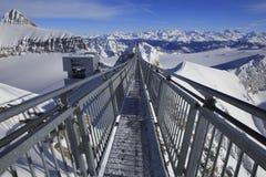 尖峰对尖峰,瑞士 免版税库存图片