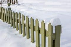 尖桩篱栅 免版税库存图片