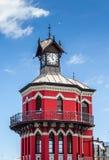 尖沙咀钟楼、维多利亚和阿尔弗莱德江边,开普敦 库存照片