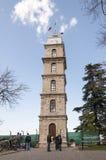 尖沙咀钟楼在伯萨,土耳其 免版税库存照片