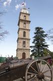 尖沙咀钟楼在伯萨,土耳其 库存照片