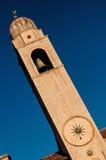 尖沙咀钟楼在杜布罗夫尼克,克罗地亚 免版税图库摄影