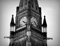 尖沙咀钟楼在渥太华加拿大 免版税库存照片
