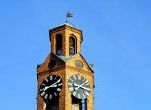 尖沙咀钟楼在Prishtina 免版税库存照片