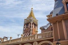 尖沙咀钟楼广场正方形位于巴统,阿扎尔地区 库存照片
