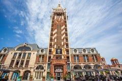 尖沙咀钟楼广场正方形位于巴统,阿扎尔地区 免版税库存照片