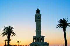 尖沙咀钟楼,伊兹密尔 免版税库存图片