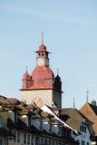 尖沙咀钟楼,城镇厅的部分在卢赛恩 图库摄影