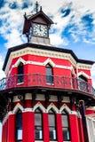尖沙咀钟楼,纳尔逊・曼德拉门户,维多利亚viscinity & 免版税图库摄影
