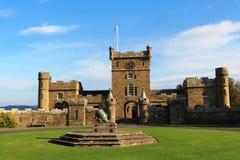 尖沙咀钟楼, Culzean城堡, S 埃尔郡苏格兰 免版税库存图片
