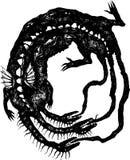 尖酸的龙其自己的尾标 库存照片