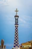 尖顶在公园Guell 免版税库存照片