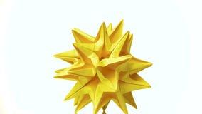 尖黄色dodecahedron 库存例证