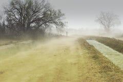 尘土侵蚀风暴 免版税库存照片