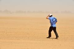尘土和沙尘暴 库存照片