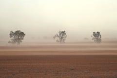 尘暴澳大利亚人农场 免版税库存图片