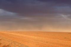 尘暴澳大利亚人农场 库存图片