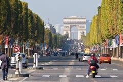 尚萨斯-爱丽舍宫巴黎 免版税库存照片