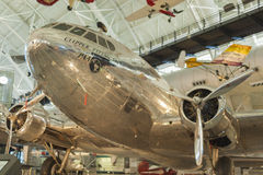 尚蒂伊美国, 9月, 26日:波音307 Stratoliner飞行克洛 库存照片