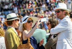 尚蒂伊- 6月15 :在Prix de戴安娜的生活方式在跑马场,在2014年6月15日,法国的巴黎附近 免版税库存照片