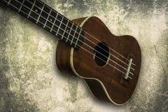 尤克里里琴在白色背景的夏威夷吉他 库存图片