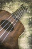 尤克里里琴在白色背景的夏威夷吉他 免版税库存图片