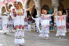 尤加坦墨西哥舞蹈家 免版税库存图片