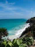 尤加坦海岸线 库存照片