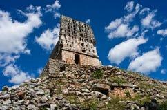 尤卡坦半岛的,墨西哥Labna考古学站点 库存照片