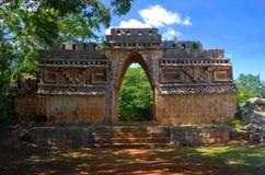 尤卡坦半岛的,墨西哥Labna考古学站点 免版税库存图片