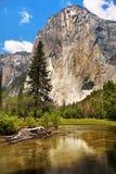 尤塞米提谷山,美国国家公园 库存图片